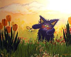 Art: Monster Kitty by Artist Cynthia Schmidt