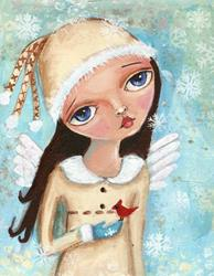 Art: snowfairy.jpg by Artist Betty Stoumbos