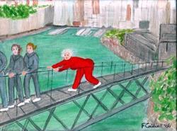 Art: Gran Does the Bridge Climb by Artist Fran Caldwell