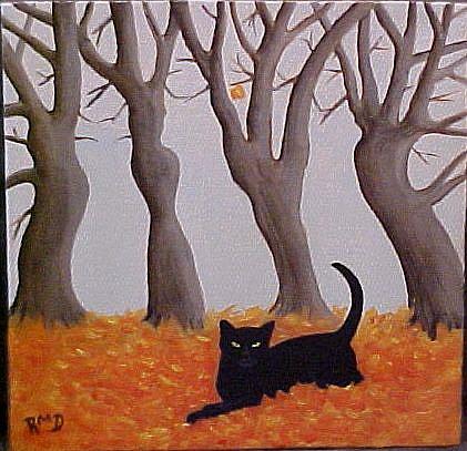 Art: AUTUMN PLAY by Artist Rosemary Margaret Daunis