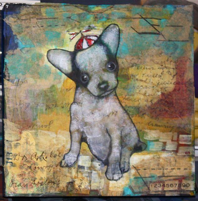 Art: pup by Artist Claudia Roulier