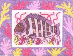 Art: I Know that There is a Purple Fish Somewhere by Artist Theodora Demetriades