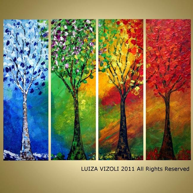 Art: custom painting seasons  by Artist LUIZA VIZOLI