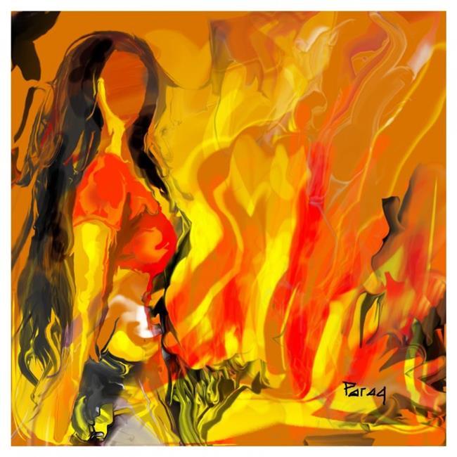 Art: Feel the heat by Artist Parag Pendharkar