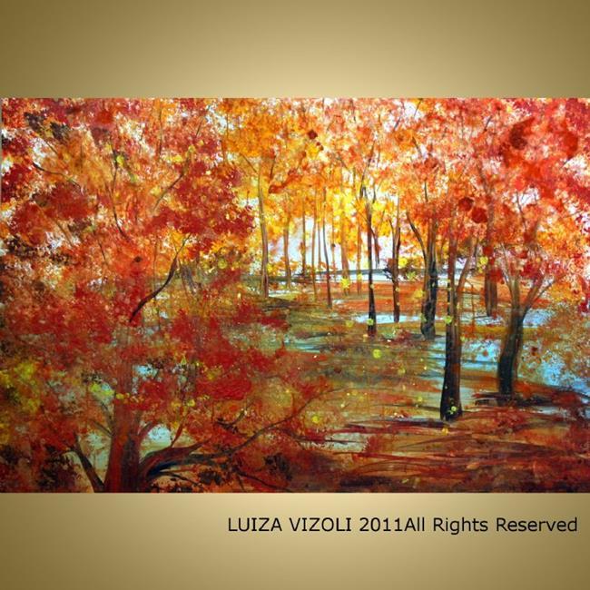 Art: AUTUMN COLORS by Artist LUIZA VIZOLI