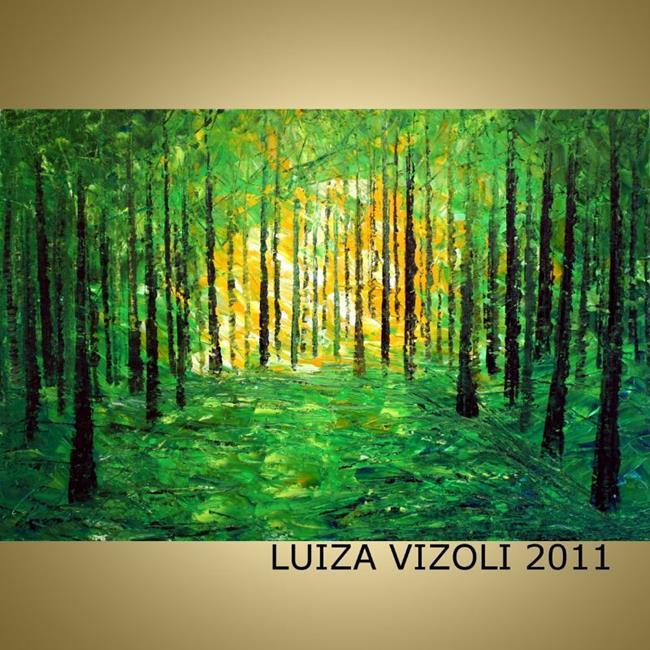 Art: SPRING CUSTOM PAINTING by Artist LUIZA VIZOLI