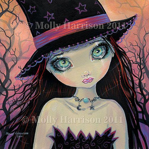 Art: brighteyedwitchfull by Artist Molly Harrison