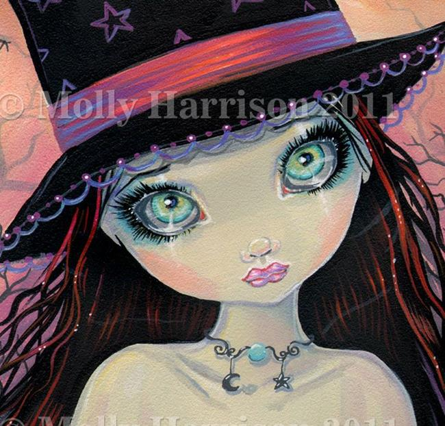 Art: brighteyedwitchcloseup by Artist Molly Harrison