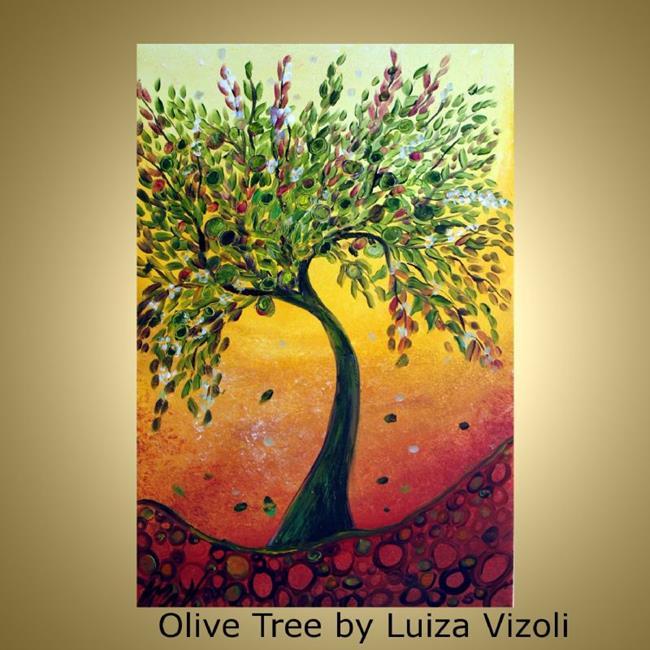 Art: OLIVE TREES by Artist LUIZA VIZOLI