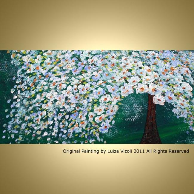 Art: custom painting night tree by Artist LUIZA VIZOLI