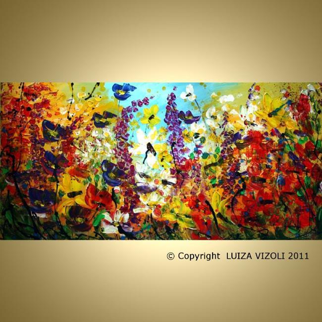Art: SEA OF FLOWERS by Artist LUIZA VIZOLI