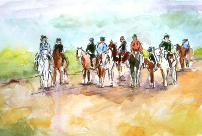 Art: Ridersready by Artist Deborah Sprague