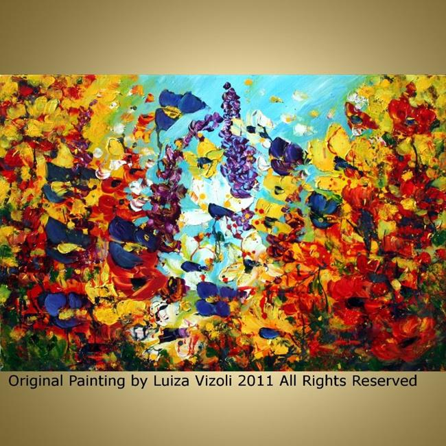 Art: custom painting flowers garden1 by Artist LUIZA VIZOLI