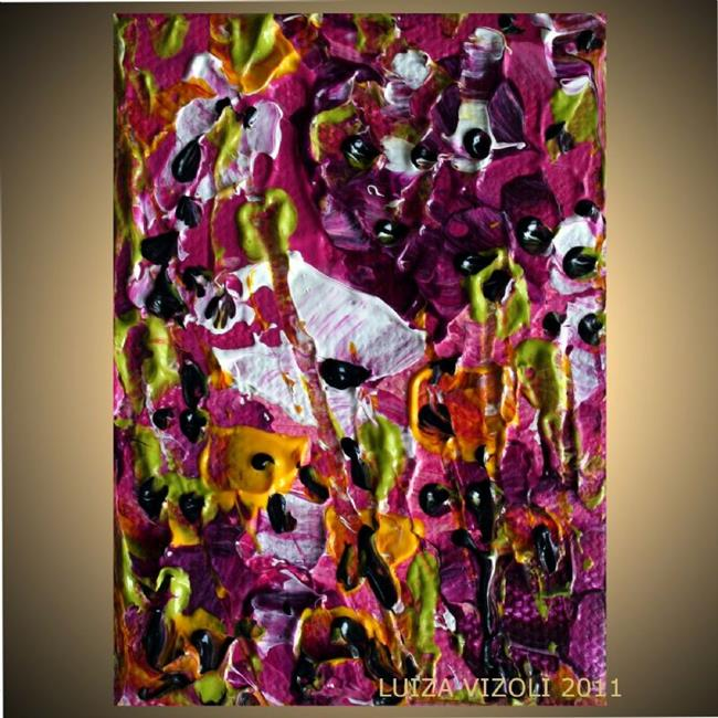 Art: purple flowers by Artist LUIZA VIZOLI