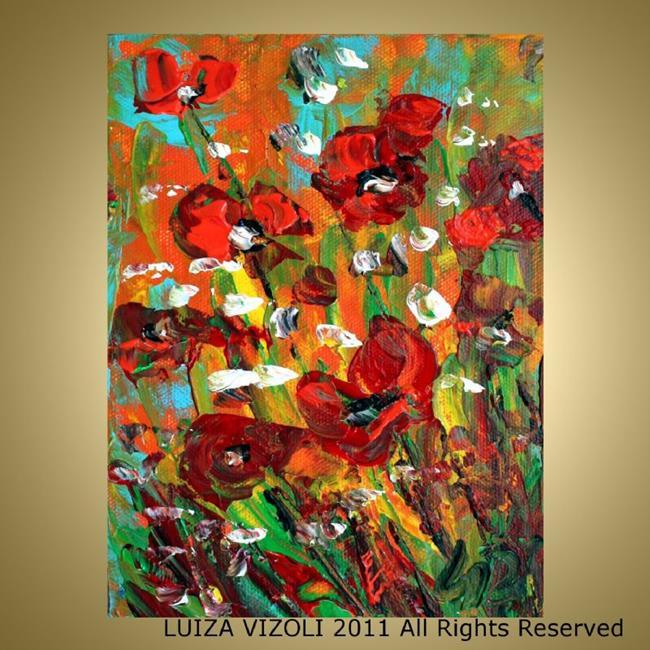 Art: COUNTRY FLOWERS  by Artist LUIZA VIZOLI