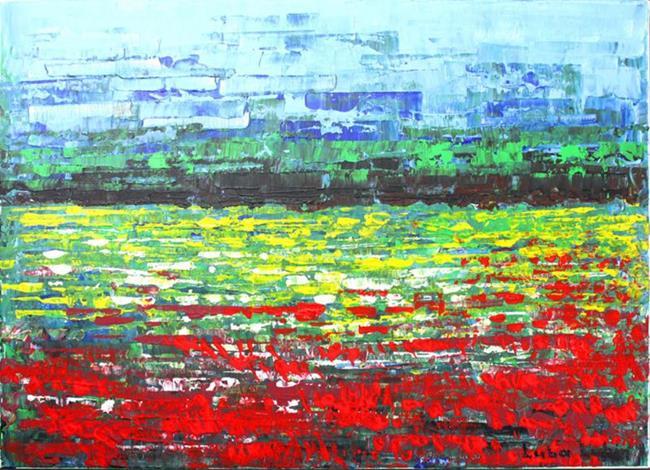 Art: A field of flowers (s) by Artist Luba Lubin