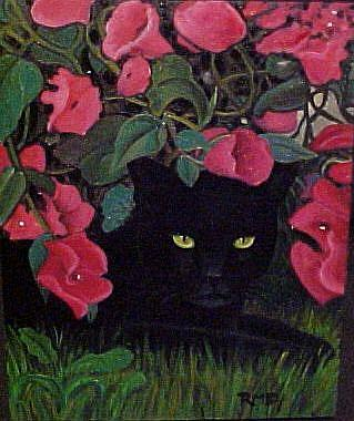 Art: SUMMER CAT by Artist Rosemary Margaret Daunis