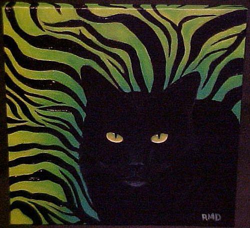 Art: CAT TIGER DESIGN by Artist Rosemary Margaret Daunis