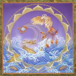 Art: Phoenix and Dragon by Artist Nadean O'Brien