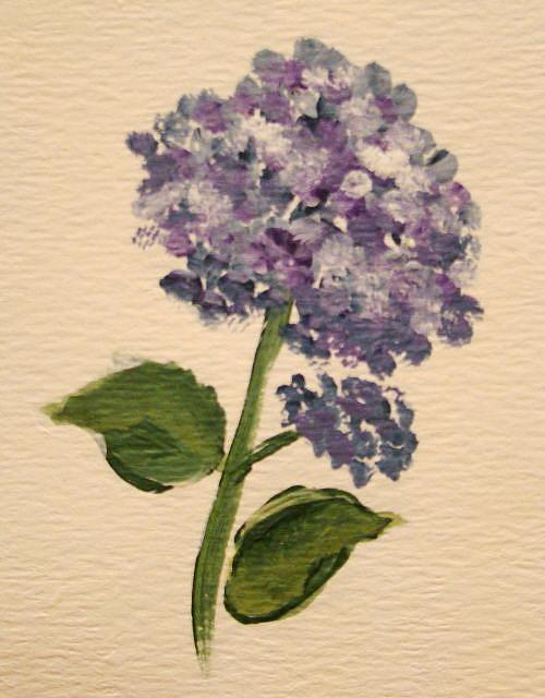 Art: Purple Hydrangea by Artist Leea Baltes