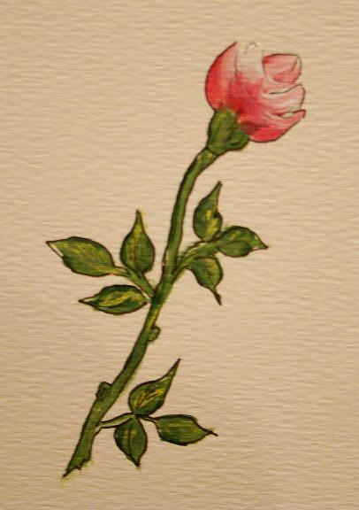 Art: Rosebud by Artist Leea Baltes