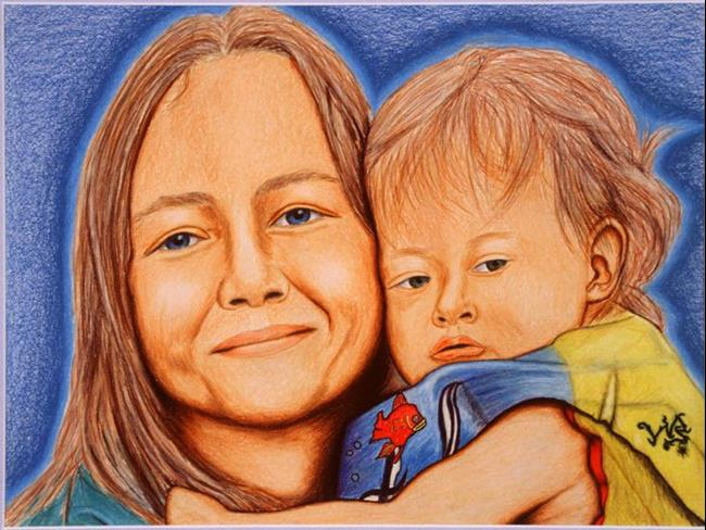 Art: Kim and Luke by Artist William Powell Brukner