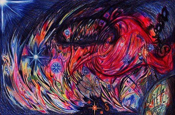 Art: PSYCHEDELIC COSMOS by Artist William Powell Brukner