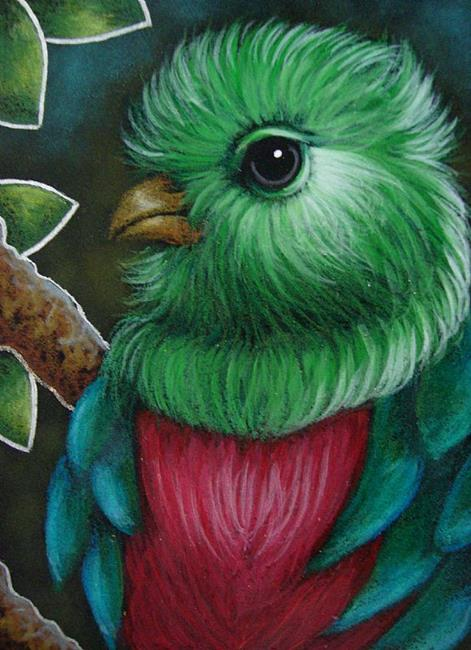 Art: QUETZAL BIRD CLOSE UP by Artist Cyra R. Cancel