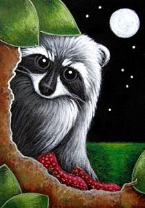 Detail Image for art LOVELY RACCOON WITH DOROTHY RED SHOES?