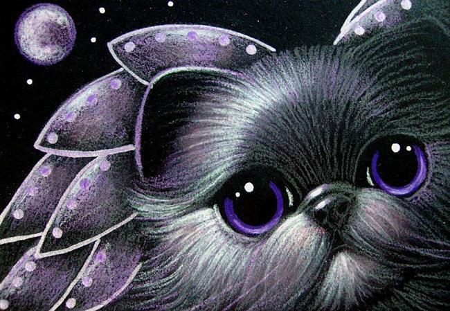 Art: VIOLET ANGEL PERSIAN KITTEN CAT by Artist Cyra R. Cancel