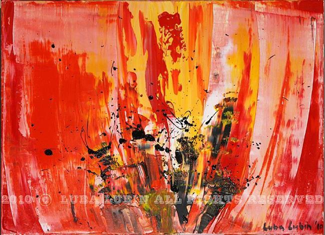 Art: Red tulip (s) by Artist Luba Lubin