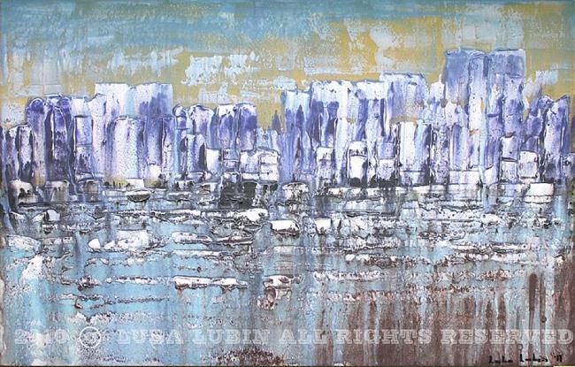 Art: Purple floe (s) by Artist Luba Lubin