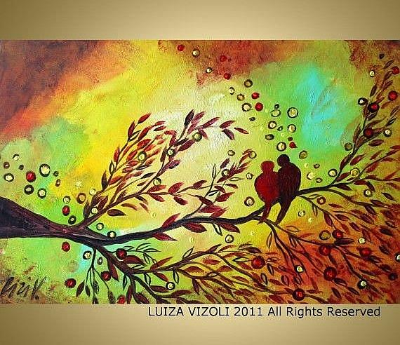 Art: LOVE BIRDS   by Artist LUIZA VIZOLI