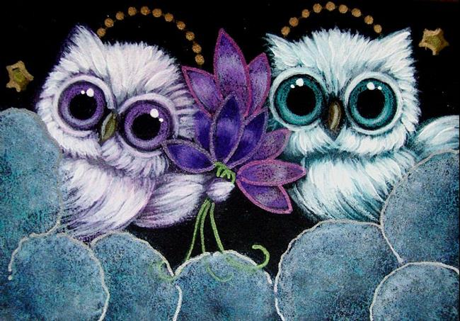 TINY ANGELS OWLS - VIOLET FLOWERS FOR YOUFROM HEAVEN