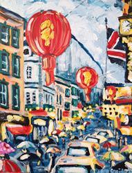 Art: China Town by Artist Andrea Golino