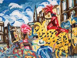 Art: Hackney Carnival by Artist Andrea Golino