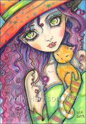 Art: olivia and ginger ACEO full by Artist Molly Harrison