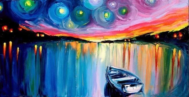 Art: midnight harbor xxxiv by sagittariusgallery d4n1prs by Artist Aja