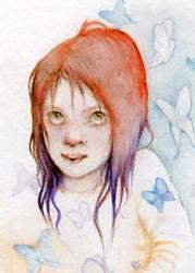 Art: butterflygirl by Artist Valerie Meijer