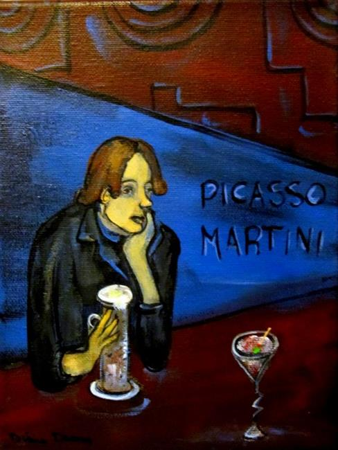 Art: Stood Up at Picasso Martini by Artist Diane Funderburg Deam
