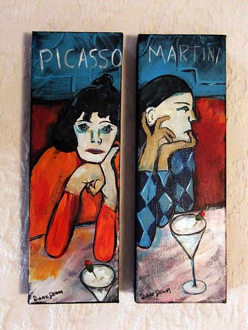 Art: Saltimbanques at Picasso Martini by Artist Diane Funderburg Deam