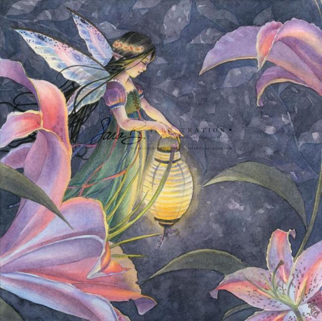 Art: twilightlilies by Artist Sara Burrier