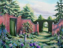 Art: Sundial Garden by Artist Justin Lowe