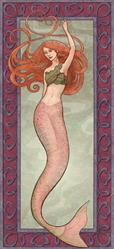 Art: Nouveau Mermaid by Artist Georgia Papadakis