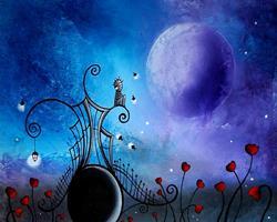 Art: Watching the fireflies by Artist Jaime Zatloukal Best