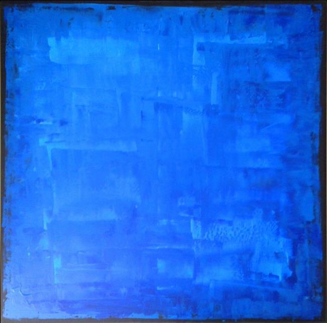 Art: Blue Abstraction 141 (s) by Artist Luba Lubin