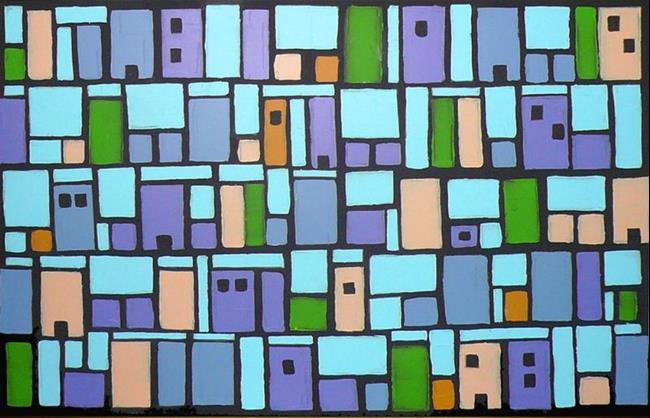 Art: City (a) by Artist Luba Lubin