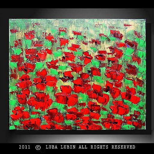 Art: Red Poppies (s) by Artist Luba Lubin