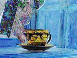 Art: Cup by Artist Carolyn Schiffhouer