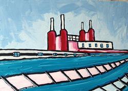 Art: Power Station by Artist Andrea Golino